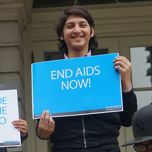 End AIDS NOW! - Square